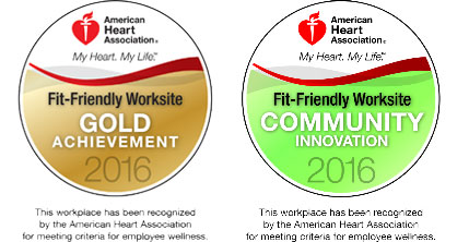 American Heart Association Fit Friendly Workplace 2016 Award