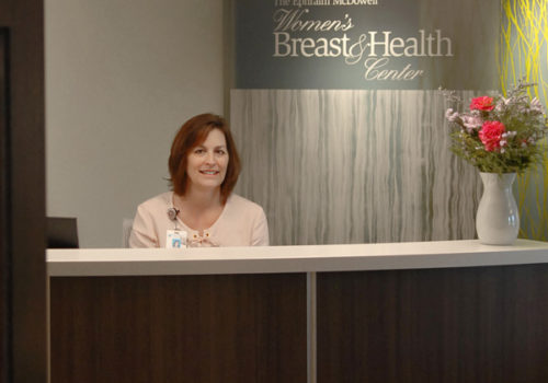 woman smiling at Women's Breast & Health Center
