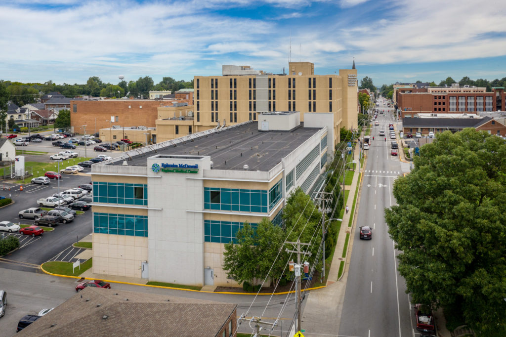 Ephraim McDowell Regional Medical Center picture from the sky.
