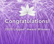 Lilypad Award symbol on a purple background