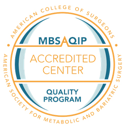 Seal for Comprehensive Center by the Metabolic and Bariatric Surgery Accreditation and Quality Improvement Program.