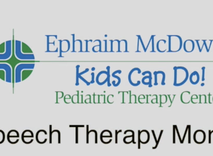 Video for Speech Therapy Awareness Month.